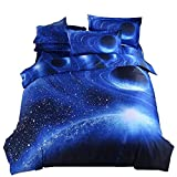A Nice Night Galaxy Bedding Set Oil Print Duvet Cover Set Kids Bedding for Boys and Girls Teens Bedding Full(Queen, 5)