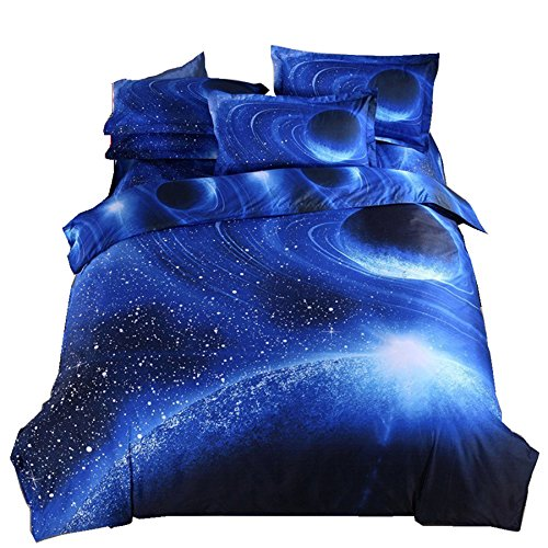 Galaxy Bedding Set Oil hard copy Duvet Cover Set Kids Bedding for Boys and Girls Teens Bedding Full(Queen, 5)