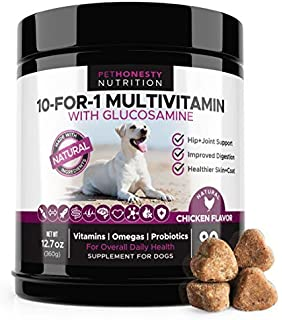 10 For 1 Dog Multivitamin with Glucosamine - Essential Dog Vitamins with  Glucosamine Chondroitin 79e5d620fd