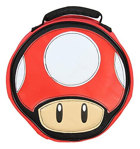 Super Mario Lunch Box Soft Kit Insulated Cooler Bag Mushroom -