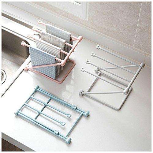 BAMONA 2pcs Folding Plastic Towel Rag Dishcloth Hanger Mug C