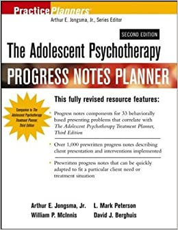 Book The Adolescent Psychotherapy Progress Notes Planner (PracticePlanners) by Arthur E. Jongsma (2003-09-29)
