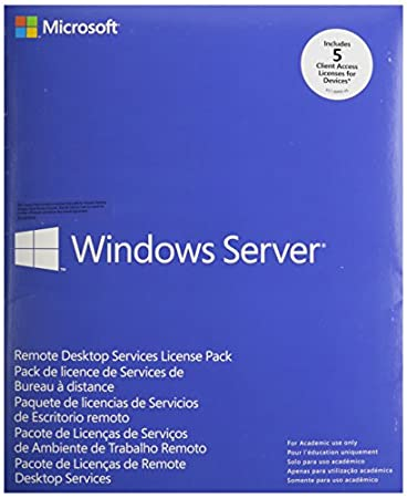 Windows Remote Desktop Services CAL 2012 MLP 5 Device