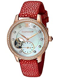 Thomas Earnshaw Men's 'Lady Australis' Automatic Stainless Steel and Leather Dress Watch, Color:Red (Model: ES-8029-08)
