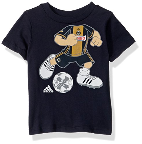fan products of MLS Philadelphia Union Boys Dream Job Soccer Player Short Sleeve Tee, 18 Months, Dark Navy