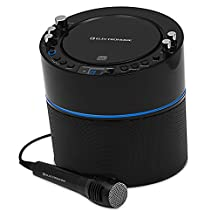Electrohome Karaoke Machine Speaker System CD+G Player with 2 Microphone Connections, Singing Music & AUX Input for Smartphone, Tablet, & MP3 Players