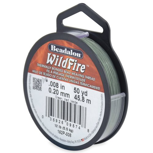 Beadalon WildFire .008-Inch Green, 50-Yard