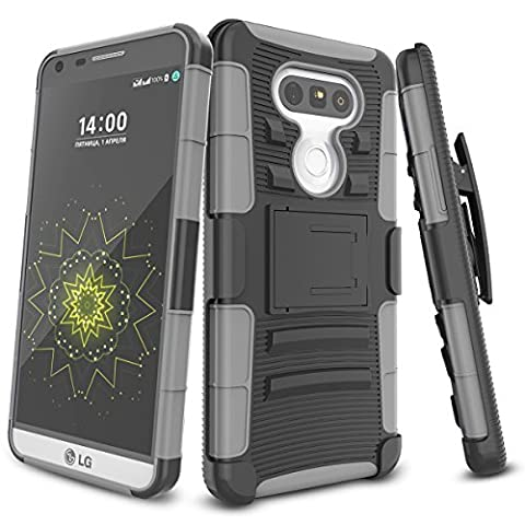 LG G5 Case,TILL [Knight Armor] Heavy Duty Full-body Rugged Holster Resilient Armor Case [Belt Swivel Clip][Kickstand] Combo Cover Shell For LG G5 Phone AT&T T-mobile Sprint Verizon Unlocked (As It Is Volume 2)