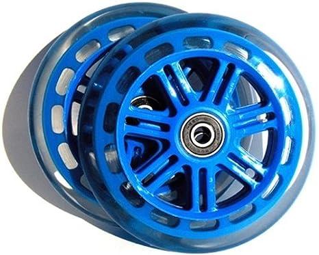 Amazon.com: Ruedas de afeitar A3 Scooter 125 mm azul Par ...