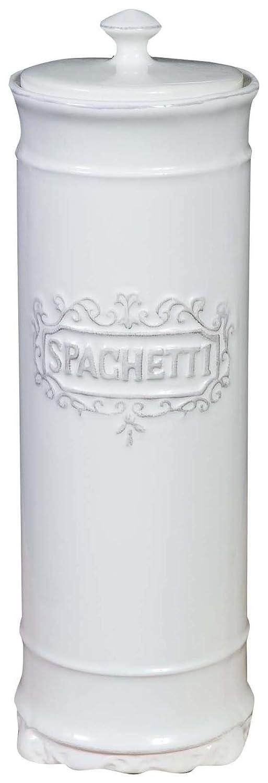 Contenitore per spaghetti in porcellana bianca Shabby L10xPR10xH30 cm Biscottini