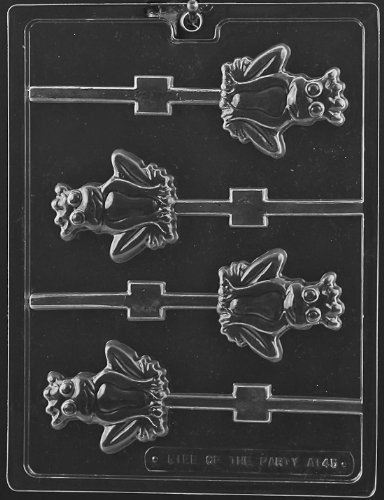 Cybrtrayd Frog Prince Lolly Chocolate Candy Mold