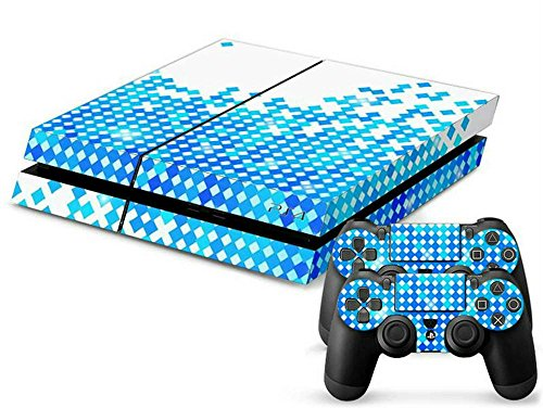 Price comparison product image MODFREAKZ™ Console and Controller Vinyl Skin Set - Blue White Diamonds for Playstation 4