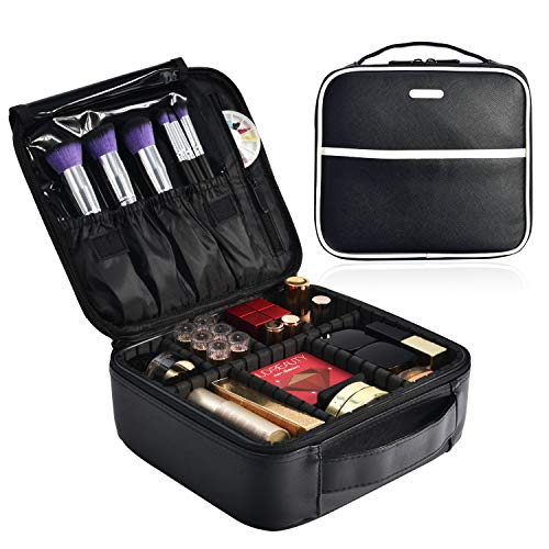 Leather Vanity Case - Makeup Bag Cosmetic Leather Organizer - 10.4