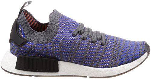adidas Men's NMD_r1 Stlt Primeknit Trainers, Green, One Size Blue (Hi-res Blue/Core Black/Chalk Coral 0)