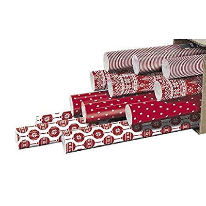 Clairefontaine 211408amzc Carton De 12 Rouleaux Papier Cadeau 2 Mx 70 Cm Motif Noel