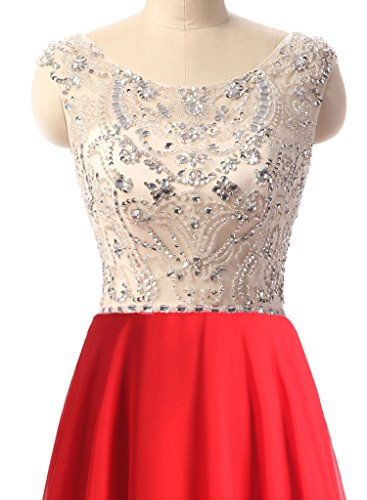 Scoop Women's JB011 Black Prom Neck Floor Jazylynbride Dress Line Chiffon Beading Length A With dRwTHtq