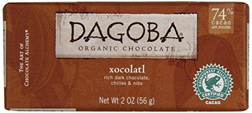 Dagoba Organic Chocolate Dark Bar, Xocolatl, 2 Ounce