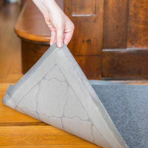 Easyology Extra Large 35'' x 23'' Cat Litter Mat, Traps Messes, Easy Clean, Durable, Non Toxic - LIGHT GREY by Easyology (Image #4)