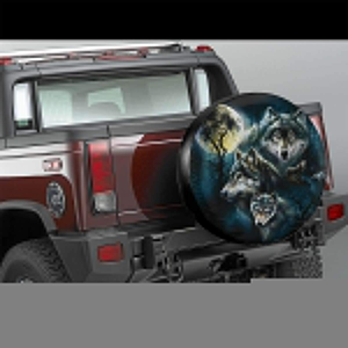 14,15,16,17 Inch NELife Tire Cover Wolf Family Potable Polyester Universal Spare Wheel Tire Cover Wheel Covers for Jeep Trailer RV SUV Truck Camper Travel Trailer Accessories