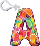 iscream Vanilla Scented Letter A Initial Squishem Backpack Charm
