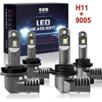H11/H8/H9 9005/HB3 LED Headlight Bulbs with Fan, SEALIGHT...