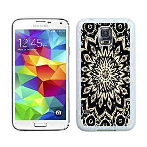 Personalized Custom Picture Samsung Galaxy S5,mandala flower White Samsung Galaxy S5 Custom Picture Phone Case