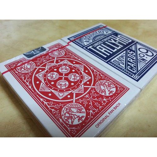 SOLOMAGIA 2 Decks of cards Tally Ho - Fan Back Red and Blue
