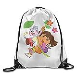 NCKG Dora The Explorer Durable Gym Sackpack Travel Valise Bag