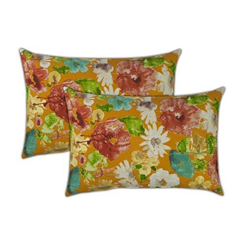 Sherry Kline Alcove Orange Boudoir Outdoor Pillows (Set of 2) ()