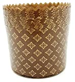 5oz Panettone Paper Mold | 25 Pack | Light Brown