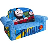Marshmallow 2-in-1 Flip-Open Sofa, Best for Kids Ages 2 To 6 Years Old, Fun and Functional Foam Sofa, Thomas & Friends