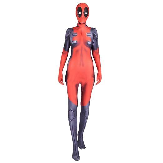 QQWE Traje De Cosplay De Deadpool para Mujer Marvel Hero Juego De ...