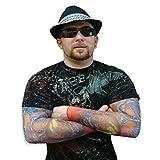 Temporary Tattoo Sleeves (Snake & Skulls)