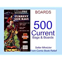 500 Current Ultra Pro Bags and Boards for Comic Books