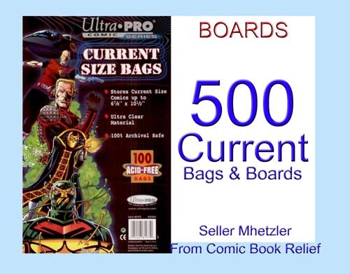 500 Current Ultra Pro Bags and Boards for Comic Books ()