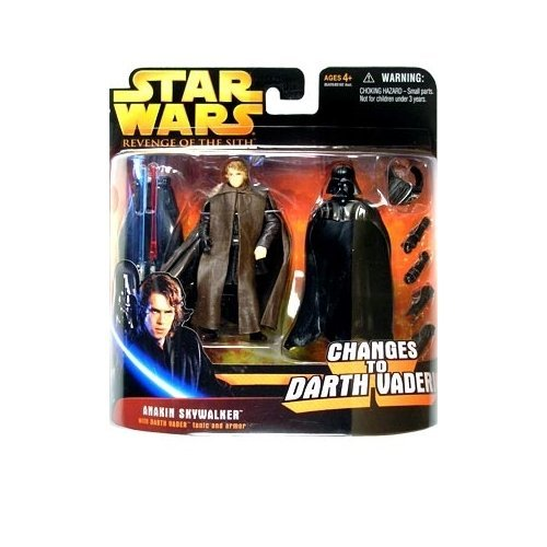 Star Wars Episode III 3 Revenge of the Sith ANAKIN SKYWALKER changes to DARTH VADER Deluxe Action Figure & Accessory Set by Star Wars]()