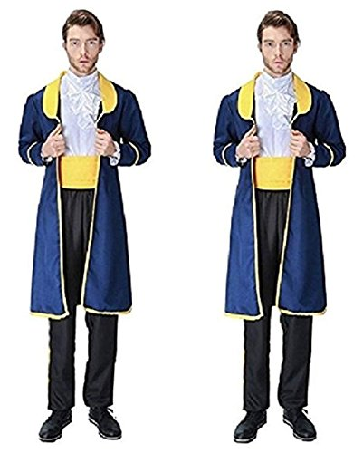 Peachi Beauty & the Beast Inspired Prince Adam Halloween Adult Boy Custome Cosplay Party S-XL (L) -