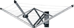Brabantia Wallfix Wall-Mounted Rotary Dryer -78 ft, 375842