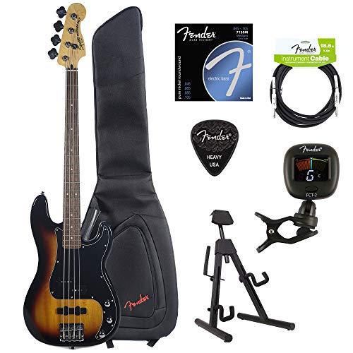 Squier by Fender Vintage Modified Precision Beginner Electric Bass Guitar – PJ – 3 Color Sunburst