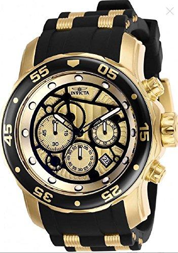 (25709 - INVICTA Pro Diver Men 48mm Stainless Steel Gold Gold dial VD53 Quartz)