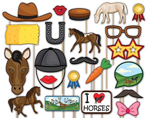 Birthday Galore Wild Horses Photo Booth Props Kit