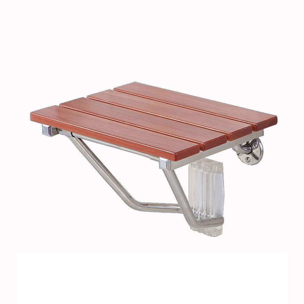 木製のシャワーチェア、防水と防腐のバスルームのスツールとベンチ、最大1000lbsまでサポート (サイズ さいず : M) B07G73ZX4Z Medium  Medium