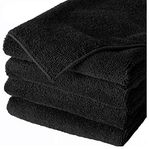 36 PACK NEW MICROFIBER TOWELS CLEANING TOWEL BLACK 16