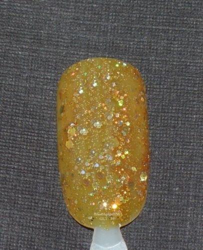 Bluesky Soak Off UV LED Gel Nail Orange Glitter Polish Marmalade 10ml B8