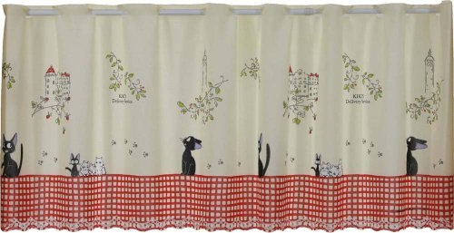 Studio Ghibuli Kikis Delivery Service Cafe Curtain Walking Jiji Made in Japan