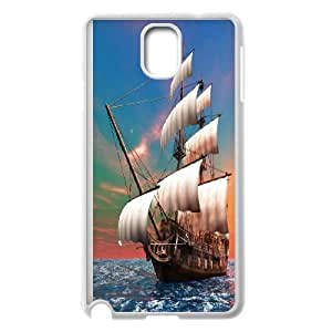 Samsung Galaxy Note3 N9000 Phone Case The Sea Ship Sailer Sailing Boat Protective Cell Phone Cases Cover TTR129466