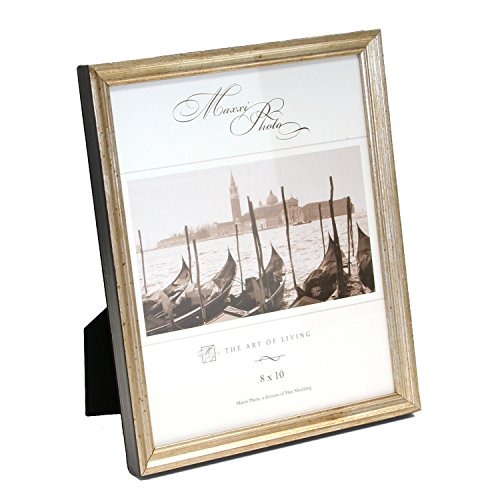 maxxi-designs-photo-frame-with-easel-back-8-x-10-antique-silver-leaf-wood-hampton-classics