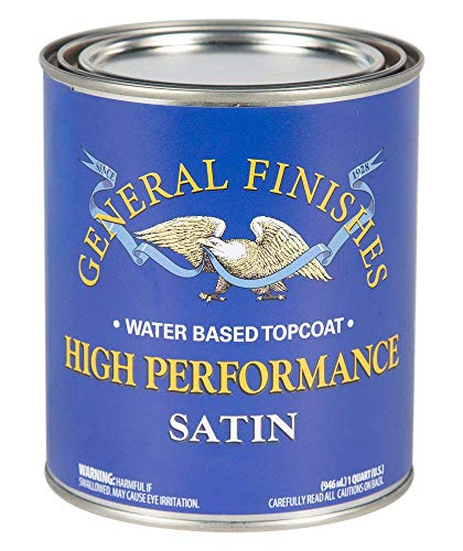 (General Finishes QTHS High Performance Water Based Topcoat, 1 Quart, Satin)