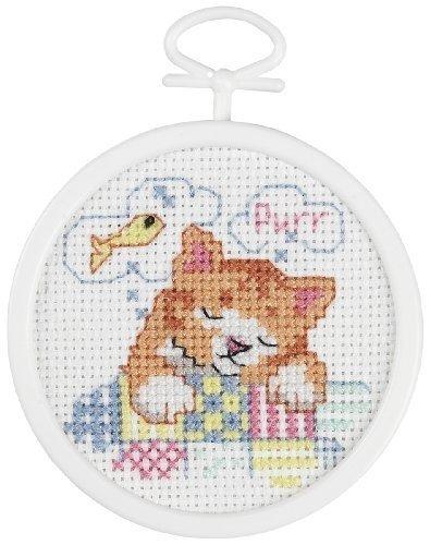Janlynn Dreaming Kitty Mini Counted Cross Stitch (Mini Counted Cross Stitch)