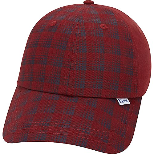 (Keds Brushed Plaid Cap (One Size - Red Mahogany))